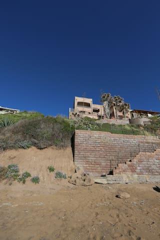 casa con veranda fronte mare