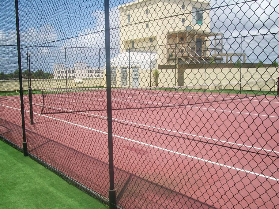 Tennis court on rooftop