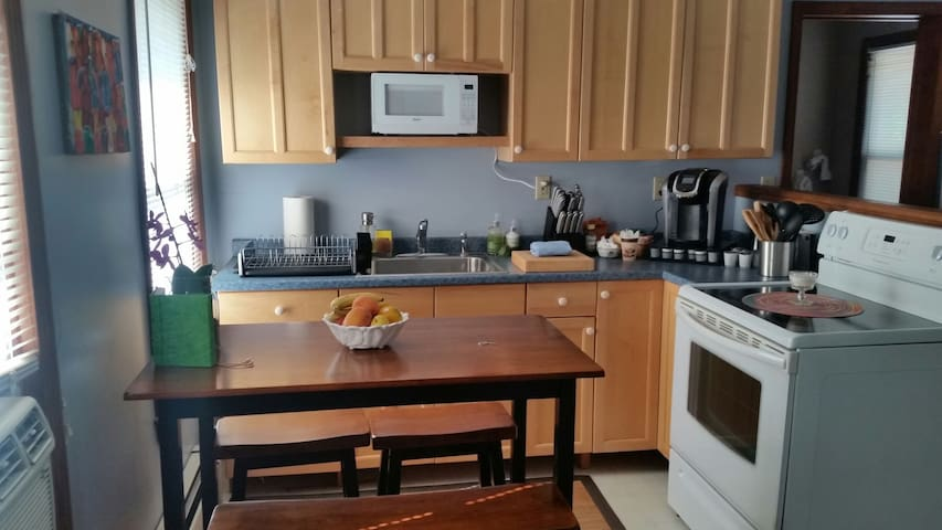 Private apartment in large home. Fully equipped. - Stonington - Flat