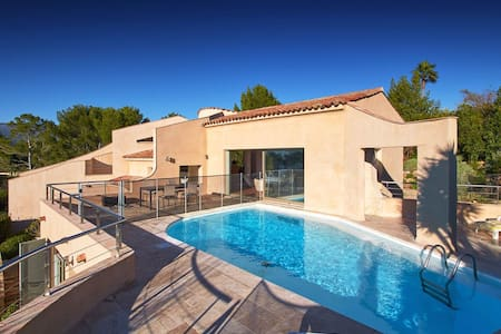Beautiful neo-Provençal villa with pool, sea view - Mouans-Sartoux - Talo