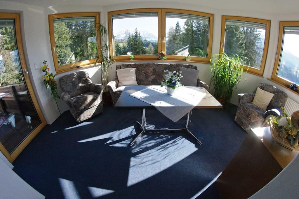 Apartment mit Panoramablick und Balkon