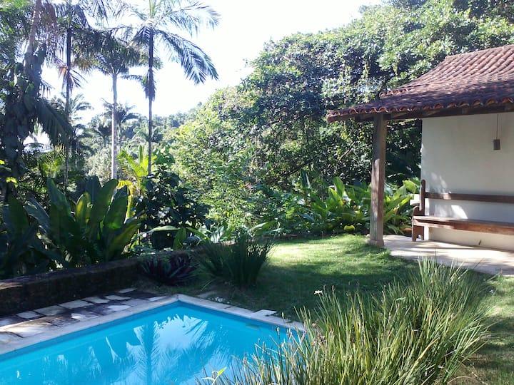 Chalet Tropical vegetation Pool
