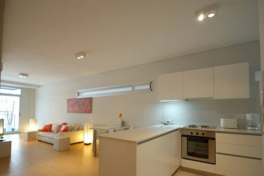 Kitchen and living integrated