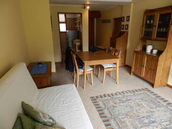 Luminoso appartamento con vista Monte Rosa.