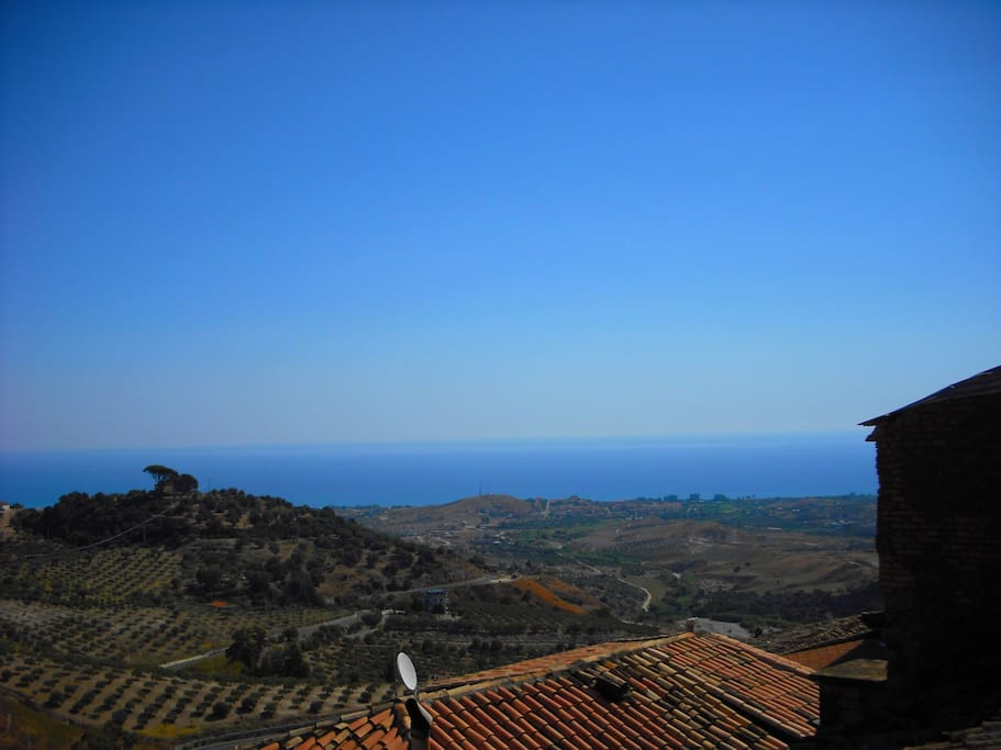 Partial view from balcony (Ionian Sea).