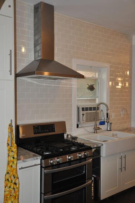 double convection oven and huge farmhouse sink!!