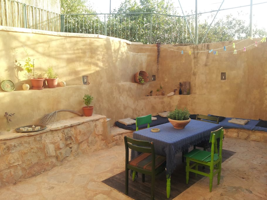 Our patio, chillout area