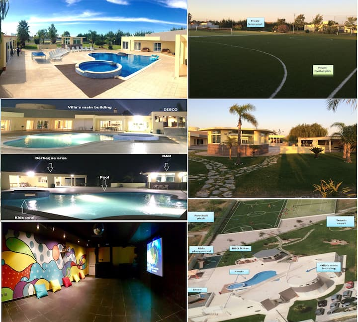 PRIVATE 'RESORT'- 2 POOLS+FOOTBALL+TENNIS+DISCO