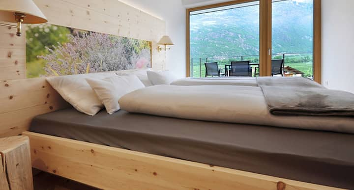"""Modern Apartment """"Linea Palus"""" with Mountain View, Pool, Wi-Fi, Terrace, Garden & Sauna; Parking Available"""