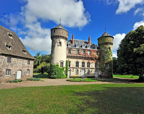 Castle of Sedaiges - Green Bedroom - Marmanhac - Bed & Breakfast