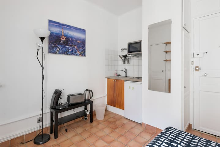 Studio near Eiffel Tower (15th) with a balcony - Paris - Apartment
