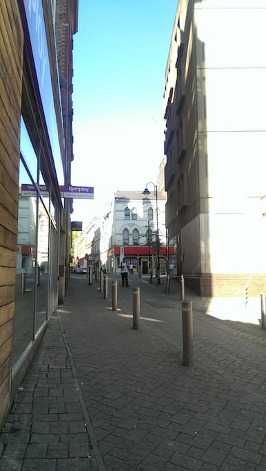 View of the entrance(on the main street!)