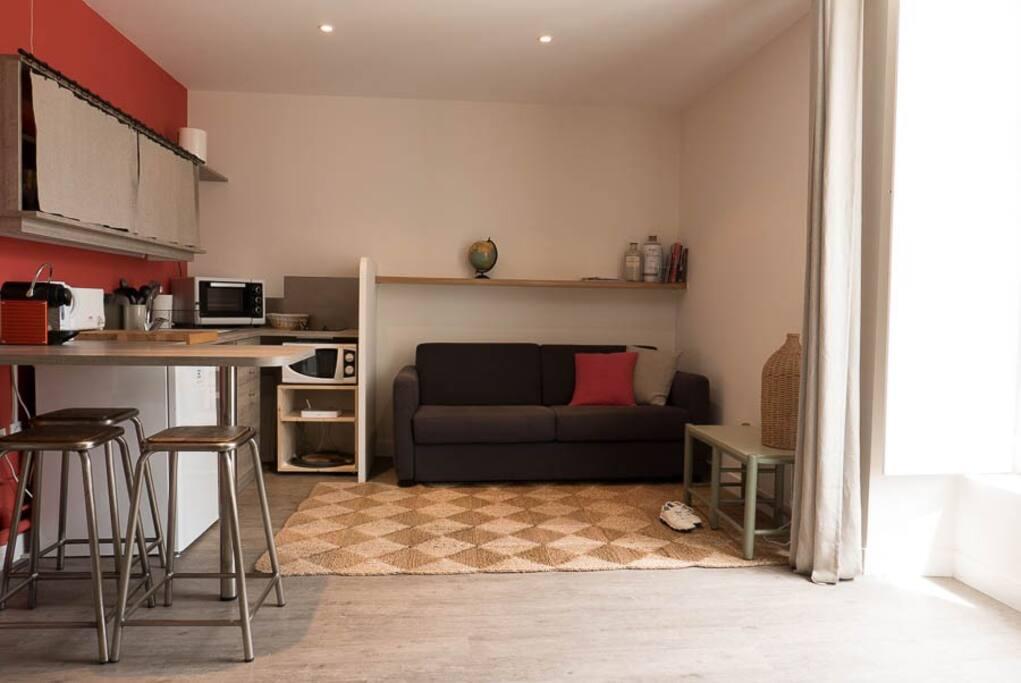 grand studio vannes hyper centre appartements louer vannes. Black Bedroom Furniture Sets. Home Design Ideas