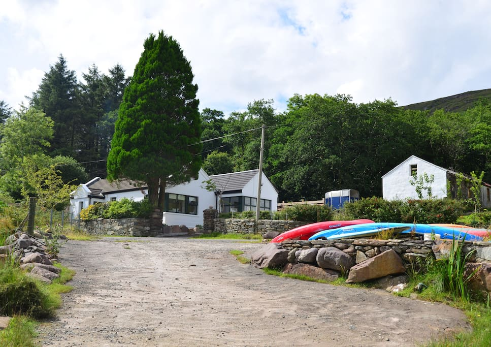 The exterior of the cottage from the slipway.