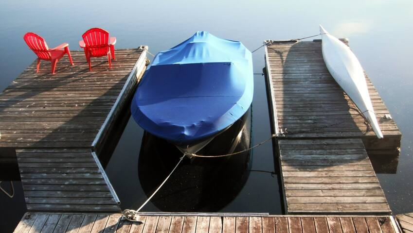 Private dock on Gull Lake.