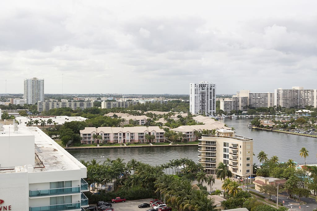 Enjoy intracoastal water views as well right across A1A with plenty of boats & yachts in the water to see