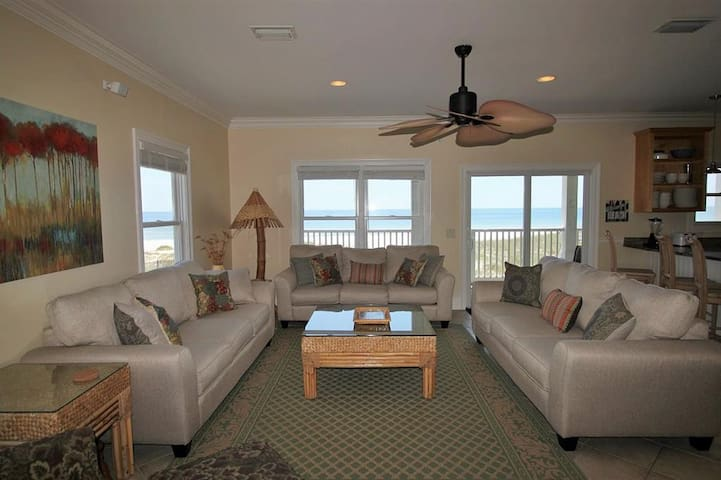 6BR Gulf Front Home East End Duplex - Pensacola - House