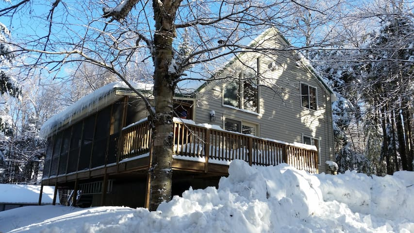 Mount Snow Private Wooded Chalet - Sleeps 10