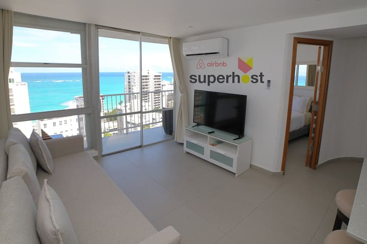 Condado Ocean-View, 1-Bedroom with free parking