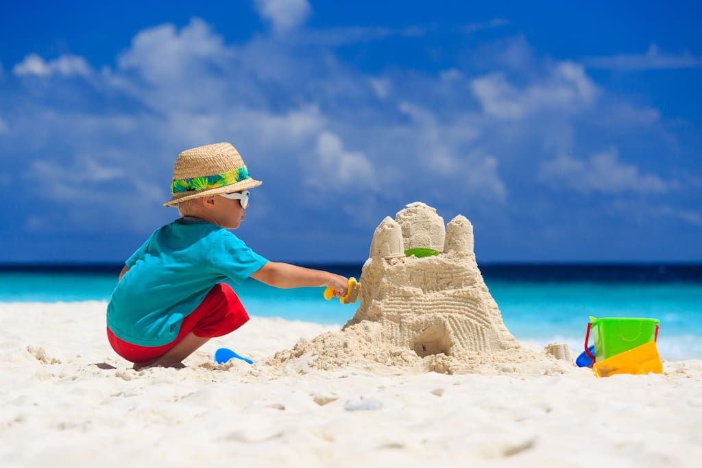 Kids Love To Build Sand Castles