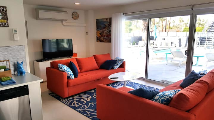 Modern So. Palm Springs Studio 29+day corp rental