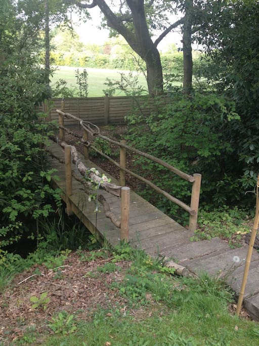 Our bridge to the local recreation ground / park