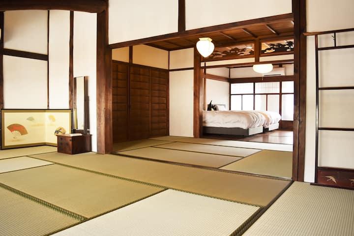 Machiya stay traditional japanese house.