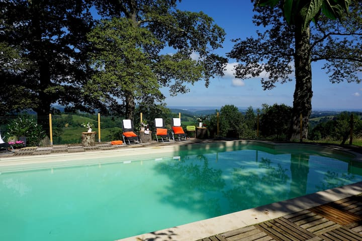 Heavenly hideaway with heated pool sleeps 5 - Ossun-Ez-Angles - Rumah