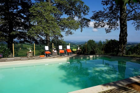 Heavenly hideaway with heated pool sleeps 5 - Ossun-Ez-Angles