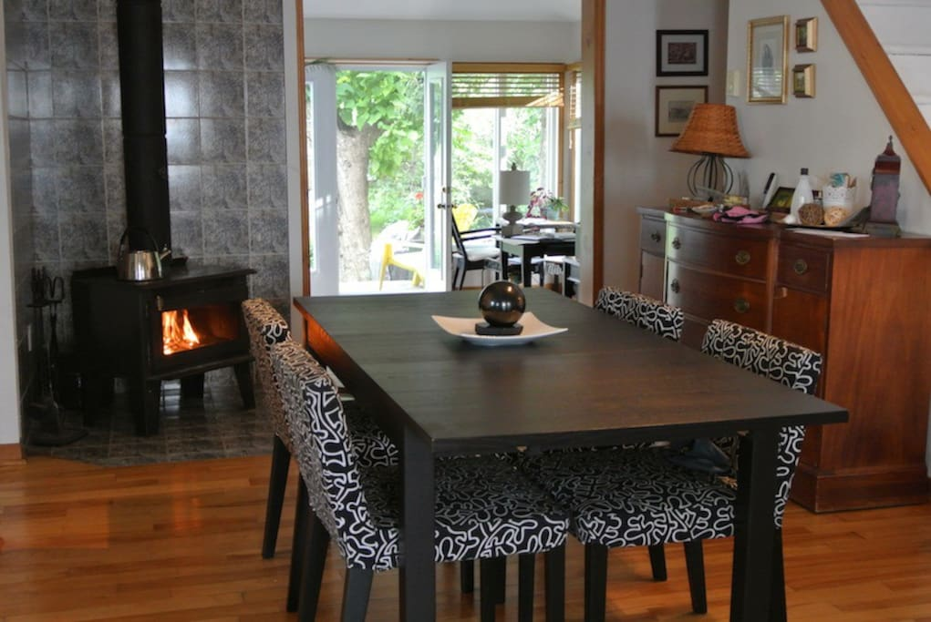 dining room wood stove
