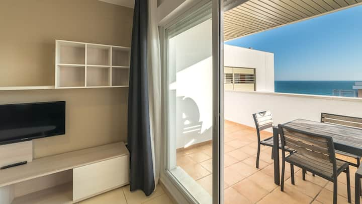 Punta Umbria new apartment two bedrooms front line beach