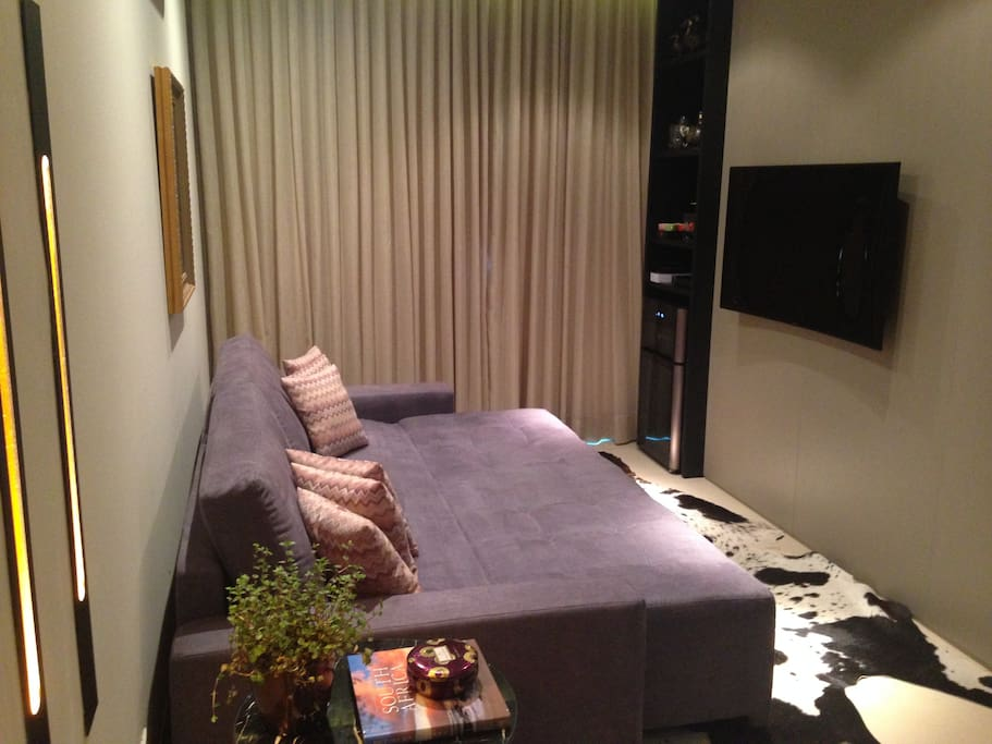 Very comfortable and relaxing sofa-bed. Perfect for your guest or just a relaxing movie evening :)