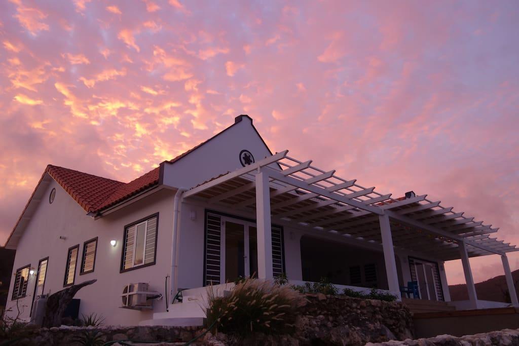 Villa Bon Bientu early morning.