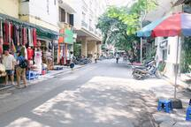 Our peaceful lane, located in the heart of Hanoi with just a few walks to Hoan Kiem lake You also can find many restaurants, coffee shops and convenient stores here.