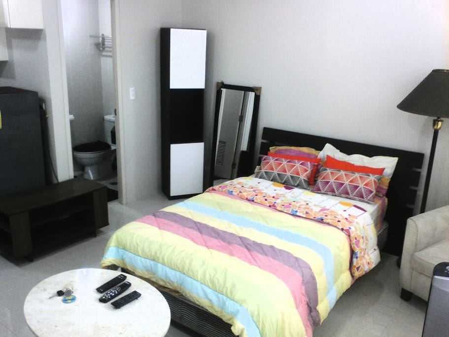 Large Bed, 30 square meters of personal space with balcony