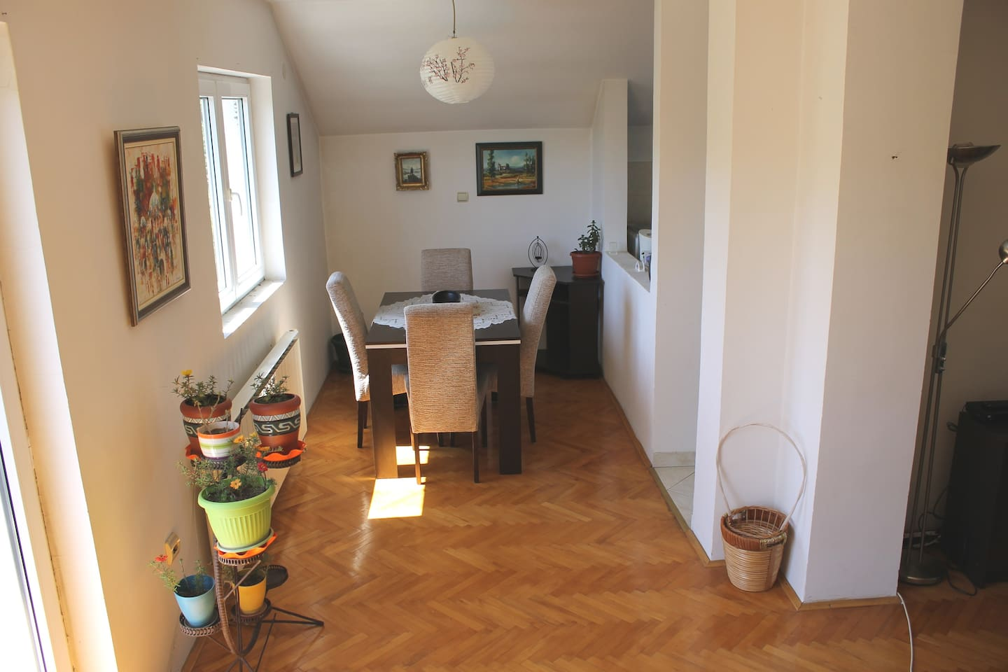 PLEASE LET US TELL YOU A STORY OF OUR WONDERFUL APARTMENT. The meals you prepared in our kitchen will be even more tasty in such a lovely dinning room.