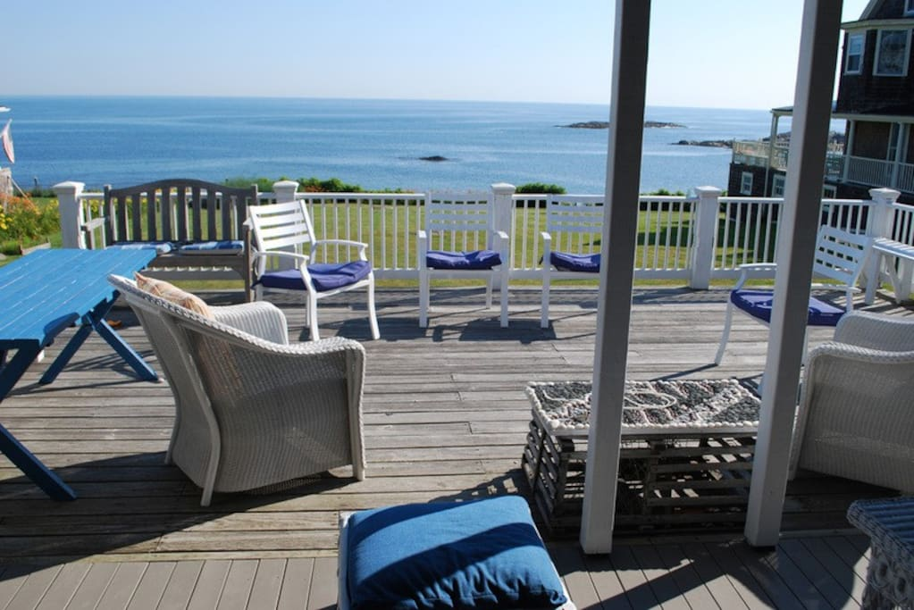Enjoy the ocean breezes from the deck