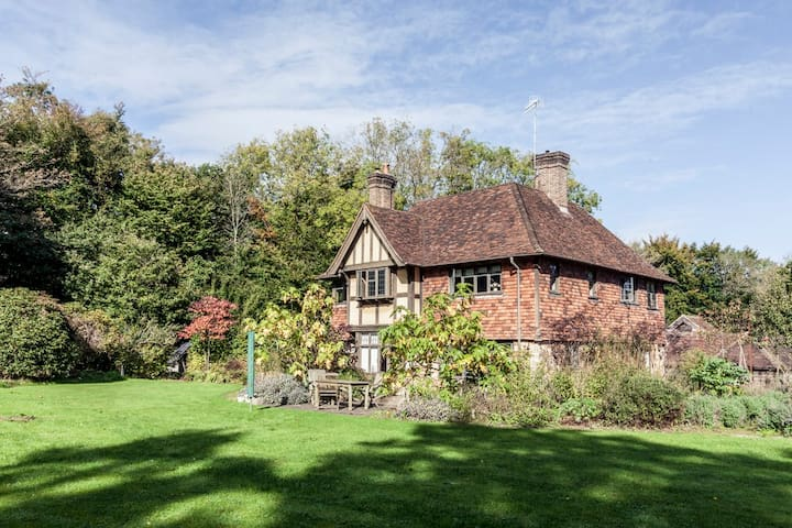 Country House & Chapel in Forest Row with hot tub