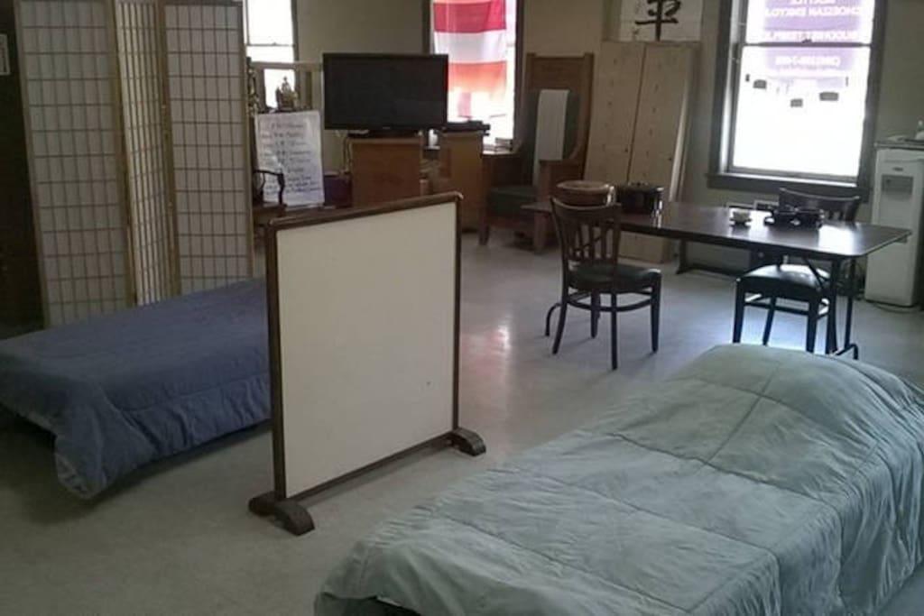 Main hall sleeping space.