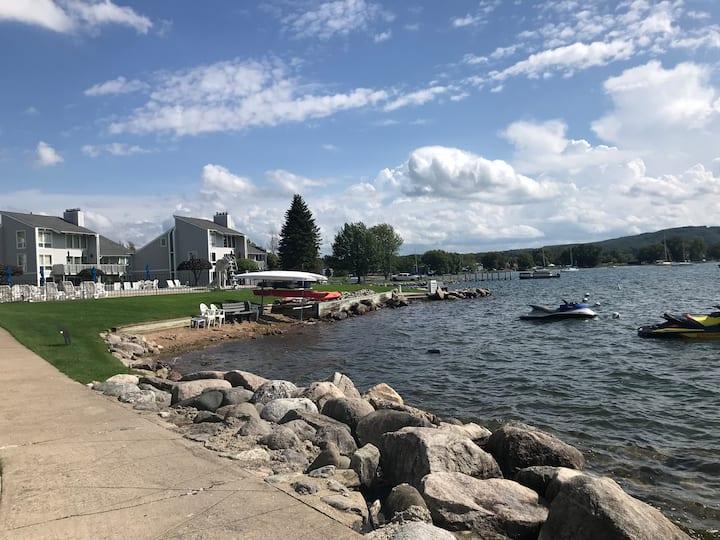 Vacation Lakefront Condo at the Landings Boyne Mi
