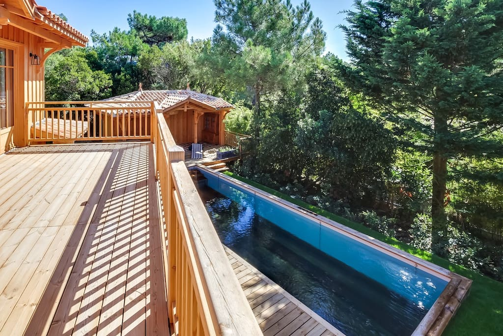 Magnifique propri t avec piscine maisons louer l ge for Maison a louer cap ferret avec piscine