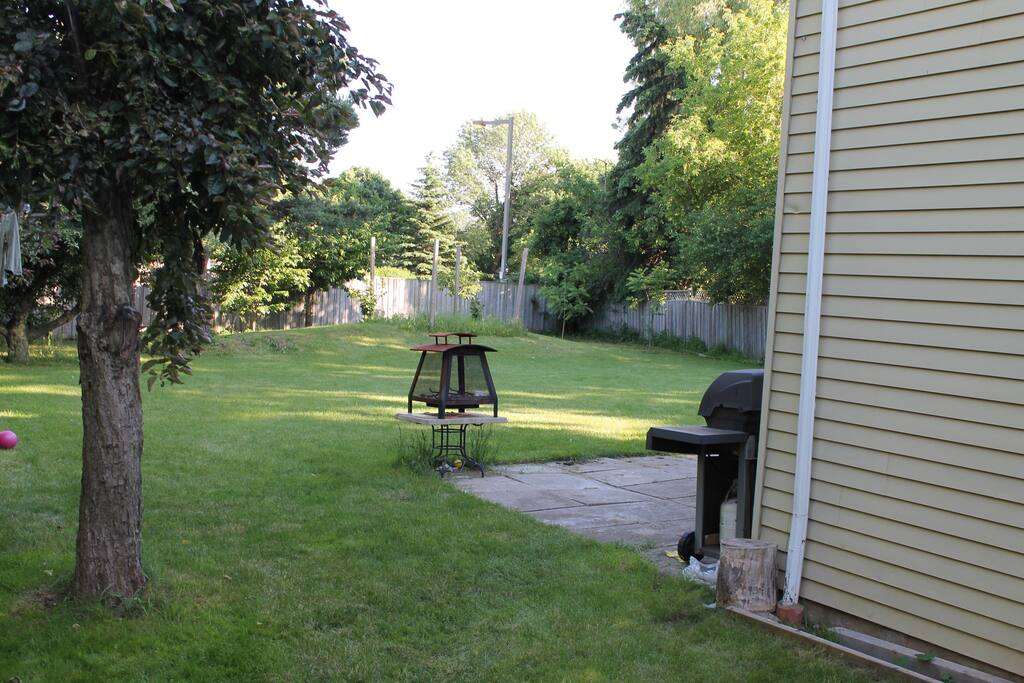View of the backyard from East of the house
