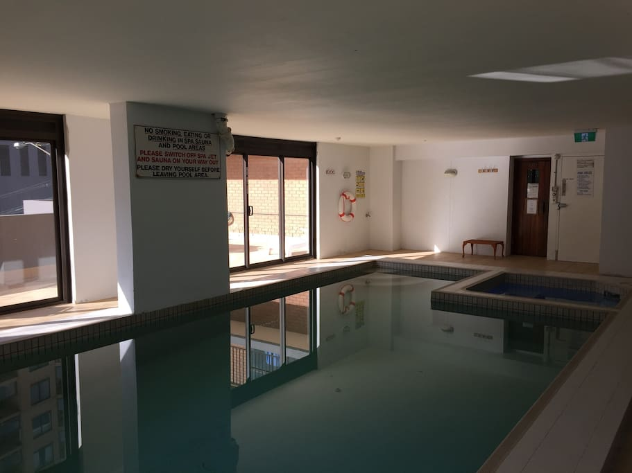 Heated indoor pool, spa and sauna!