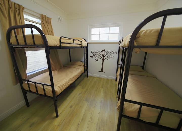4-Bed Shared Room in nice hostel