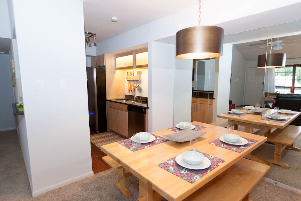 Dining for Four between Living & Kitchen
