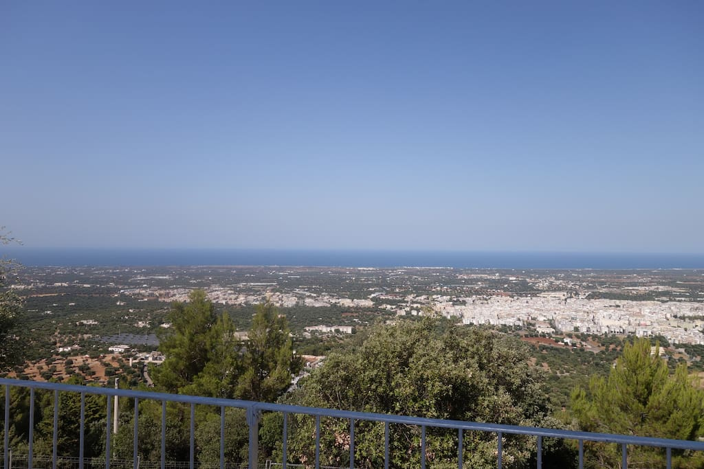 The amazing Sea views from the terrace