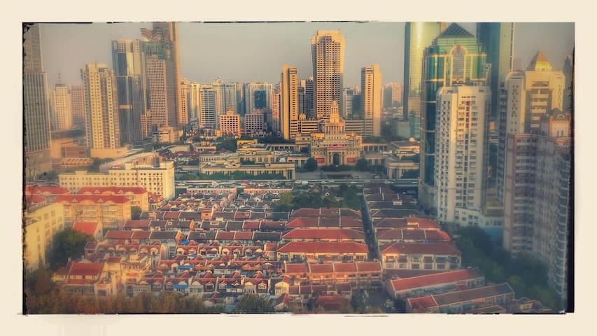 Central spacious room, great views - Shanghai - Byt