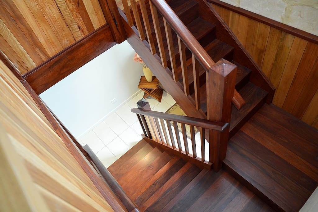 Jarrah handcrafted  staircase.