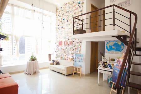 厦门岛中央-摄影工作室-床位短租30元/人/晚-免费提供沙发-凉席地铺