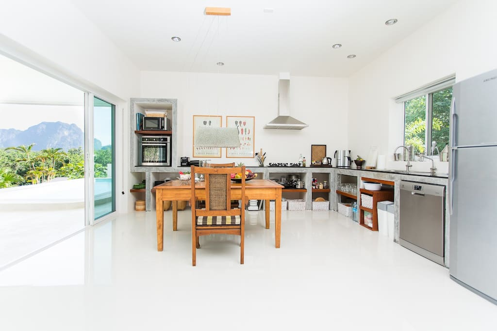 Kitchen with the most magnificient views